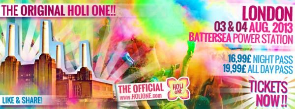HOLI ONE Colourful Festival - WE ARE ALL ONE London Battersea Power Station in August 2013 #holi #holione #holioneworld #holionesa #festivalofcolours #event #colours #london