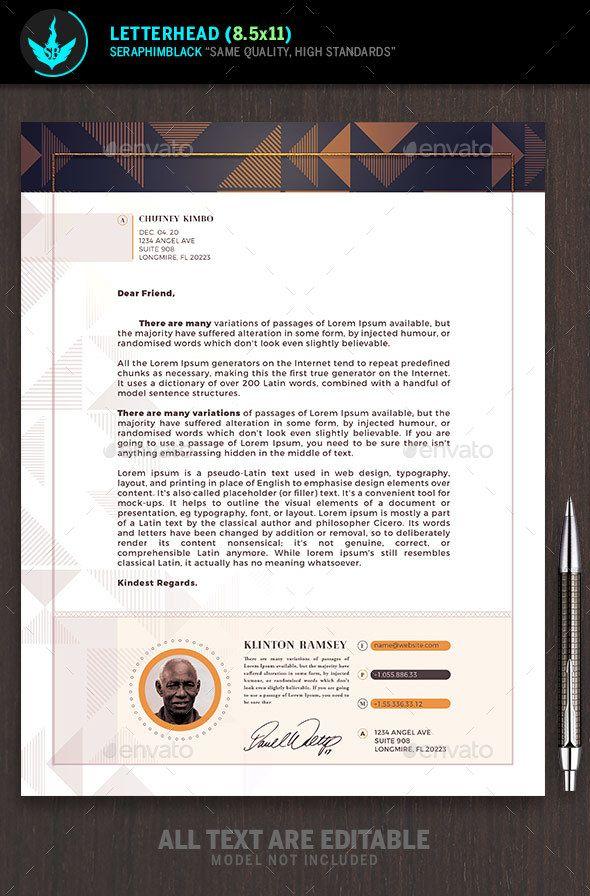 letter format on letterhead%0A Art Deco Church Letterhead Template