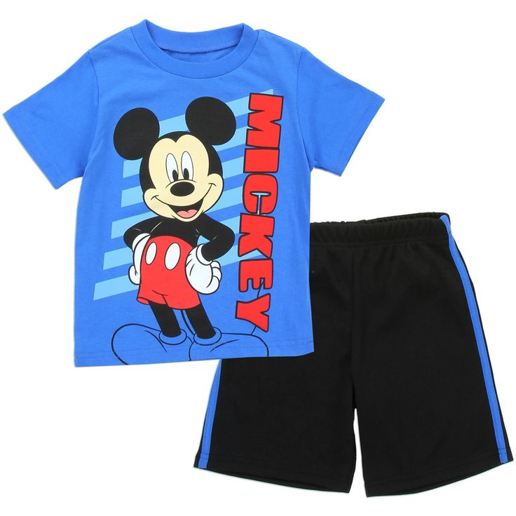 Mickey Mouse T-Shirt with Athletic Mesh Shorts