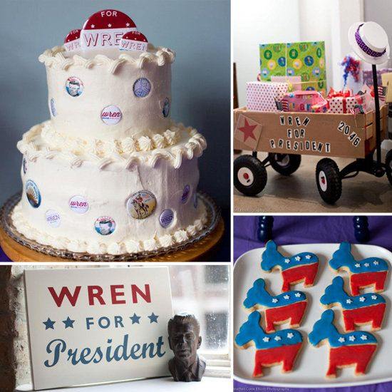 Election-Themed First Birthday Party - OK, this is just cute as can be. And I could probably find some cute decor after the Fourth of July.