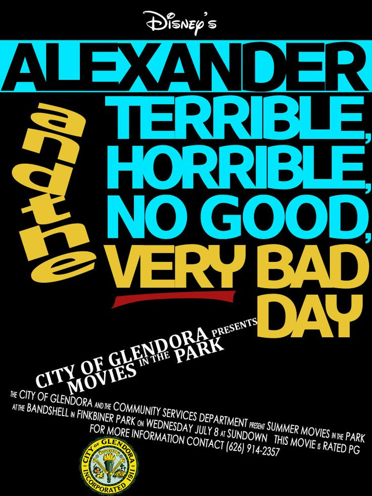 2015 Summer Movie in the Park | Alexander and the Terrible, Horrible, No Good, Very Bad Day