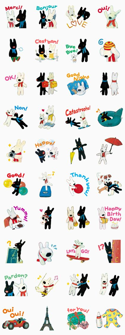 """Straight from the heart of Paris, cute character """"Gaspard et Lisa"""" is here on LINE! Make your friends relax with these fresh and stylish stickers."""