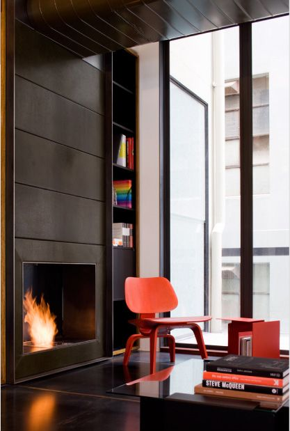 Red Eames: Fireplaces, Living Room, Jackson Interiors, Space, Fire Places