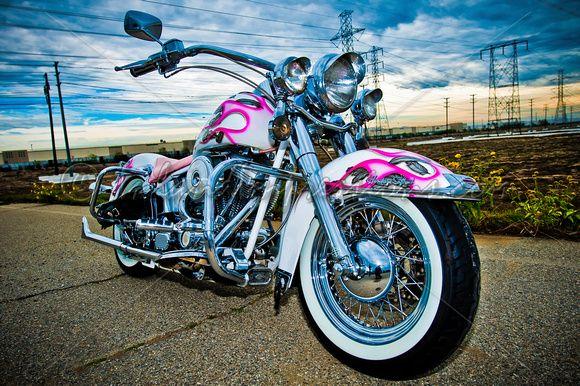 Pink Motorcycle | Home » Public » Gallery » Harley-Davidson Custom 12-04-10