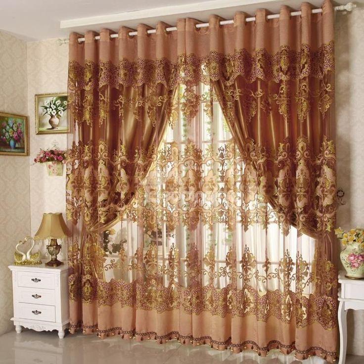 Blackout Luxury Solid Golden Grommet Top Curtain on sale, Buy Retail Price Grommet Top at Beddinginn.com