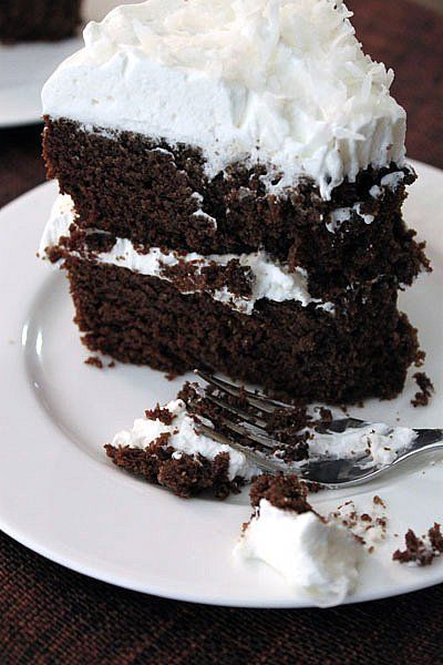 Coconut Flour Chocolate Cake - tried and true reviews - need to make this! Use swerve and powdered swerve instead of the sugar and confectioners' sugar to make this low carb.