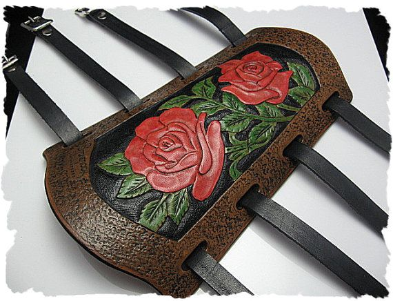 Tooled Leather Archery Arm Guard - Something to maybe look into.