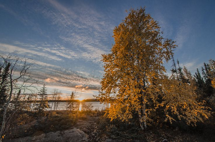 A Fall Sunset in Yellowknife by Jason Simpson on 500px