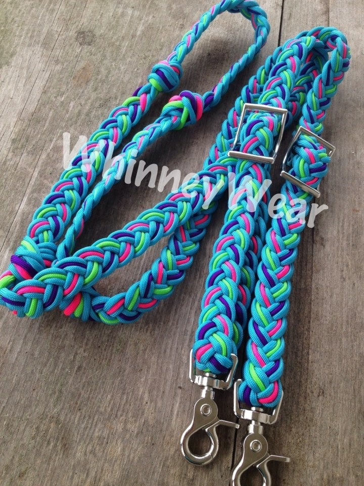 Braided reins, great for barrel racing, trail riding and jumping!   www.whinneywear.com