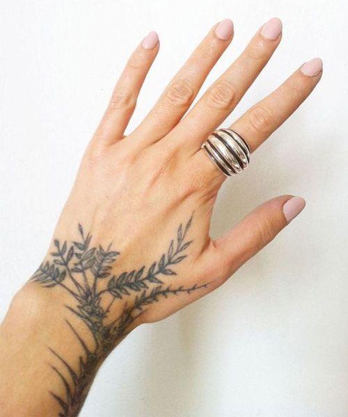 Amazing Leaf Tattoo Design on Wrist