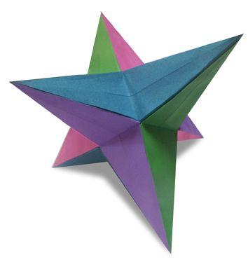 Origami 24star2 Trisoctahedron instruction