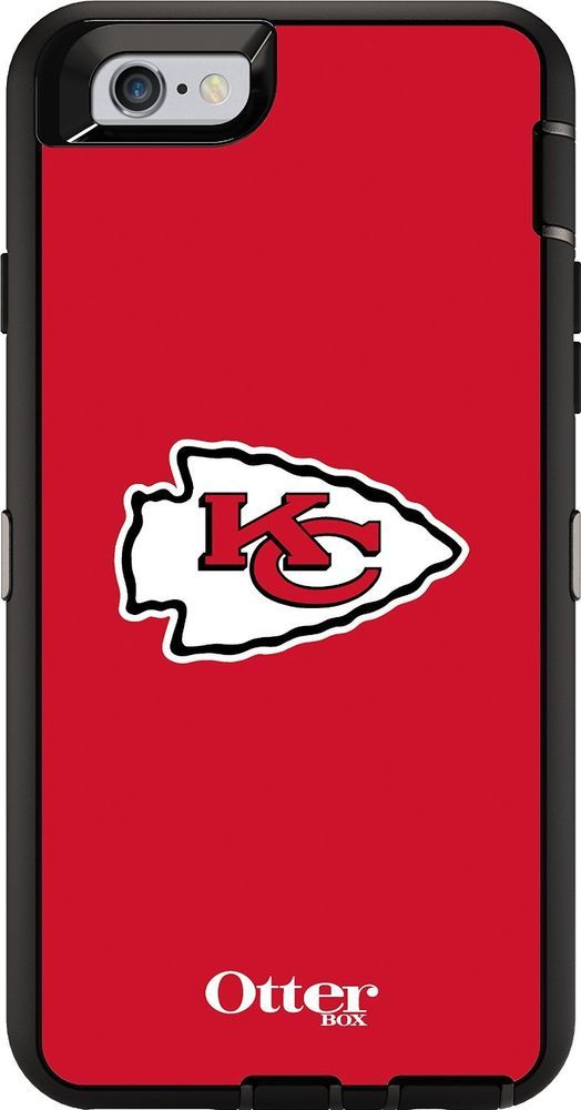 """OtterBox DEFENDER iPhone 6/6s  (4.7"""") Case Retail Packaging - NFL CHIEFS #OtterBox"""