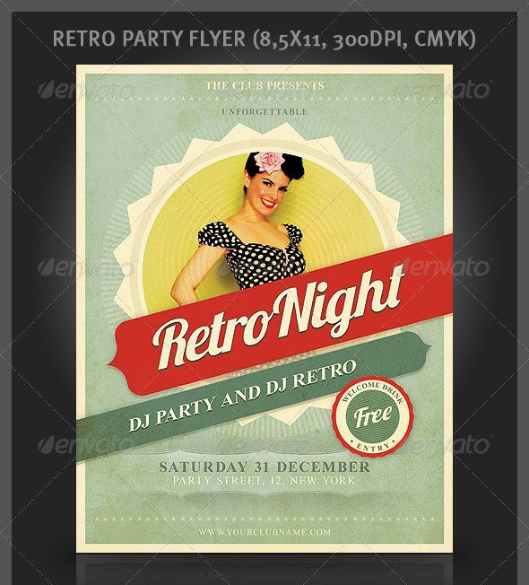 Best Retro Inspired Flyer Images On   Flyer Template