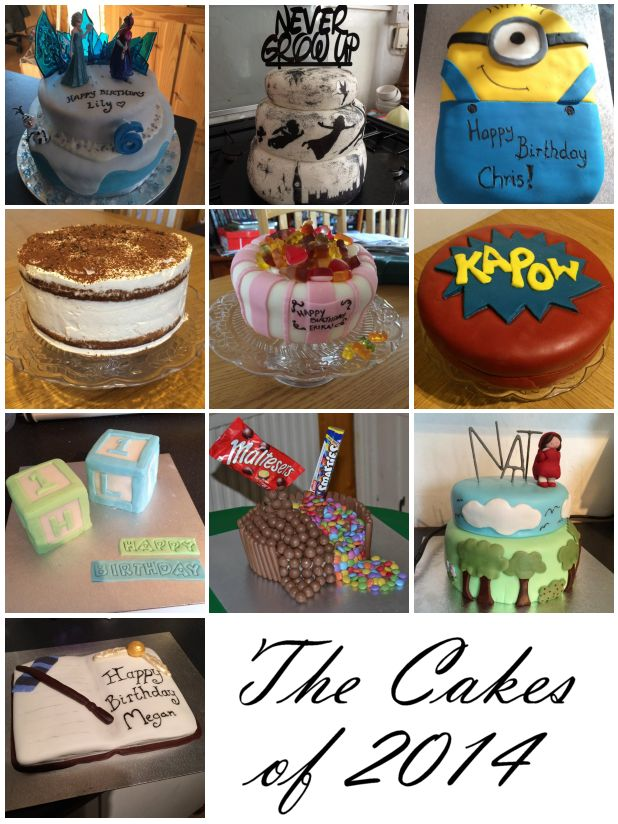 2014 in Review – The Cakes - Frozen, Peter Pan, Minions, Despicable Me, Disney, Harry Potter, Tiramisu, Sweets, Superhero, One Year Old, maltesers and smarties, Little Red Riding Hood