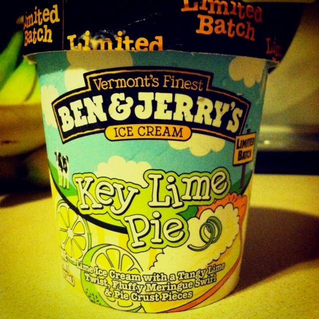Key lime pie ice cream... Yumm