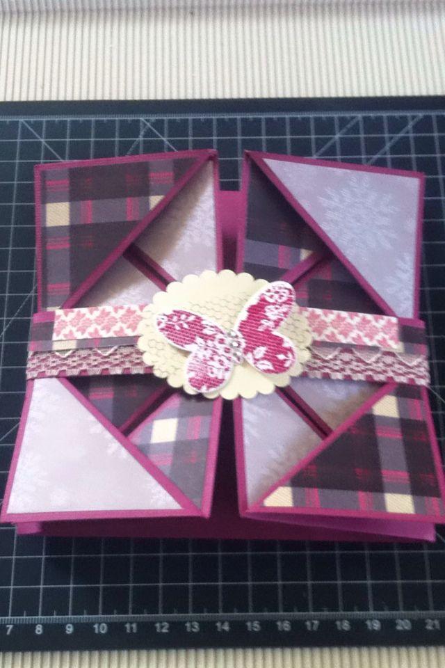 Front first serviette fold card