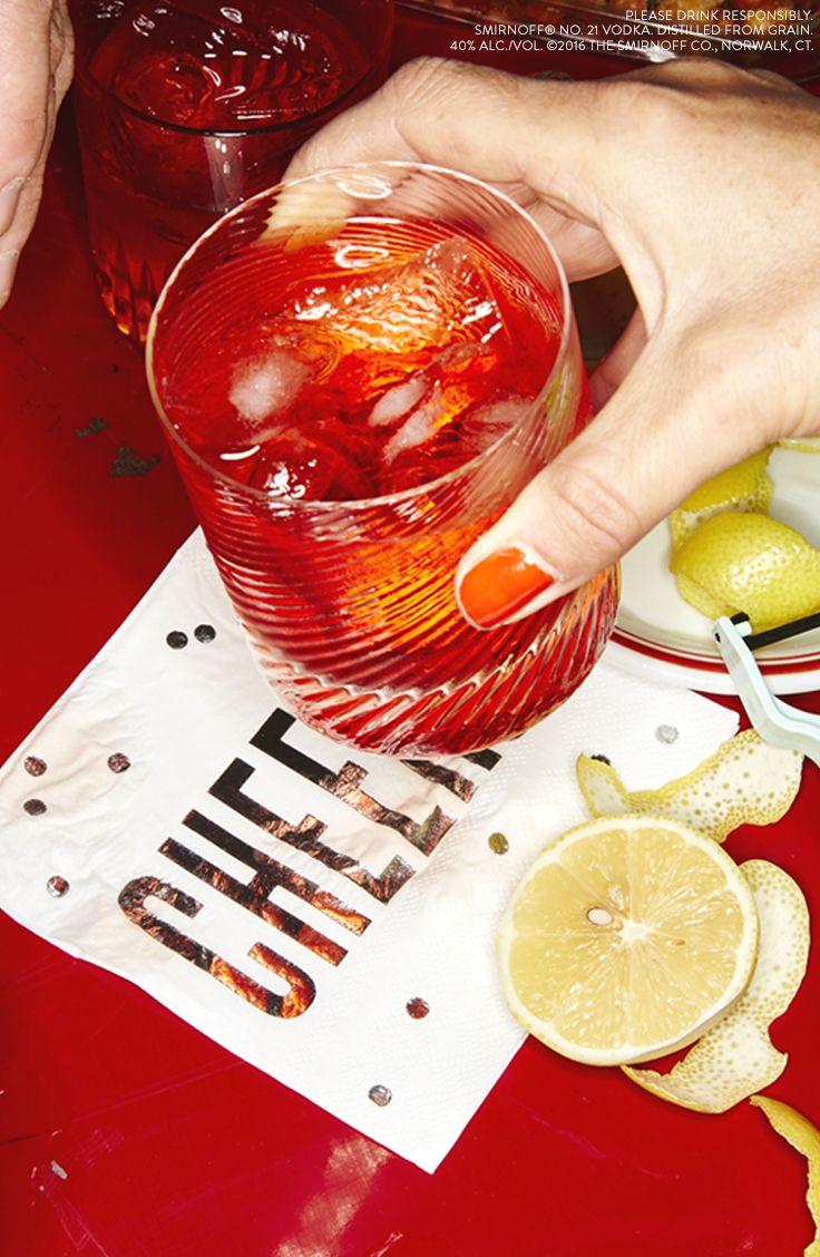 valentines vodka negroni just mix 1 oz smirnoff vodka 05 oz campari 05 - Valentines Vodka