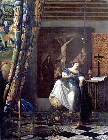 The Allegory of Faith / L'Allégorie de la foi - Jan Vermeer - 1671/1674
