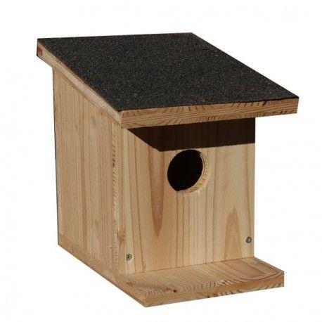 Une Idée pour nos animaux :  Nichoir à oiseaux en bois toit noir Mettez un nichoir à moineaux, merles, mésanges....Ils viendront se nourrir dans votre jardin. Fait en panneaux pleins de 19mm d'épaisseur avec un petit toit en shingle. http://www.lafermesauvegrain.com/nichoir-a-oiseaux/206-nichoir-a-oiseaux.html