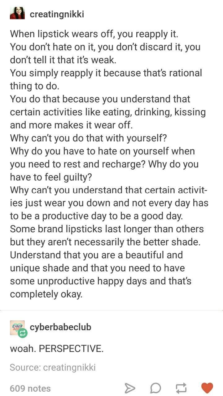 People are like lipstick
