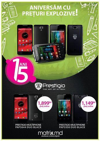 Preț redus la smartphone-uri Prestigio doar la matrix.md