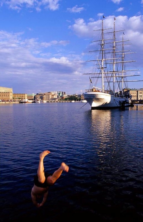 Ahoy there maties! Stay aboard the STF/IYHF af Chapman in Stockholm, in a cabin for a unique Swedish stay!  #travel #accommodation #Stockholm