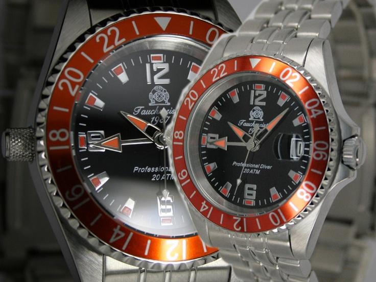 Tauchmeister 1937 Duikhorloge Swiss GMT T0193 horloge (goedkoop + gratis verzending)