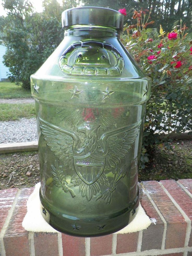rare u0026 huge 5 gallon plus green glass jar eagle u0026 stars excellent