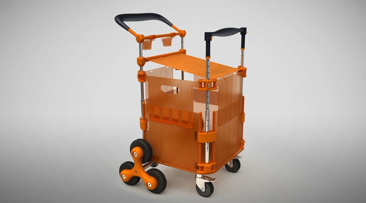 Shopper friendly cart, augmenting the shopping experience, Expandable cart : Design & Engineering by Lumium