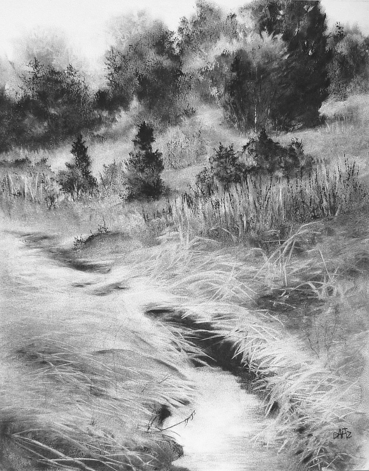You have to see Charcoal landscape drawing on Craftsy!  |Charcoal Drawings Of Landscapes