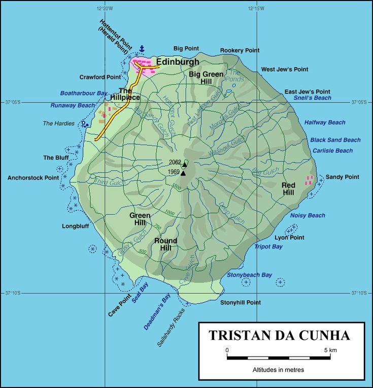 Best Tristan Da Cunha Images On Pinterest Cunha Saint Helena - Saint helena map