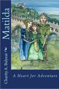 """The wagon hit a pothole in the ground, and Matilda let out, """"Oof!"""" As she hit the side of the wagon. The driver pulled up on the reigns, and hopped down, grabbing a lantern and drawing his sword. His shadow was cast large on the canvas-covered wagon. Matilda's heart beat wildly."""