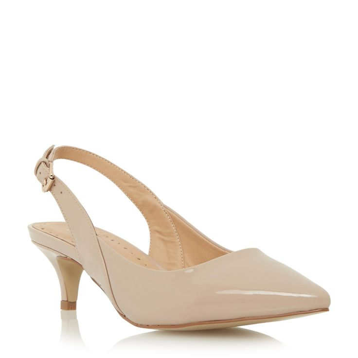 Roberto Vianni Ladies COLTON - Slingback Kitten Heel Court Shoe - nude | Dune Shoes Online