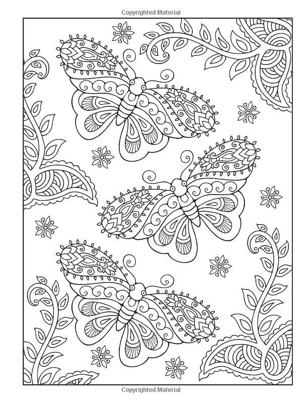 butterfly creative haven mehndi designs coloring book