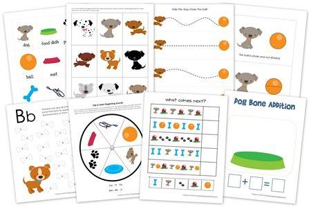 Dogs Preschool Pack ~ Free Preschool Printables