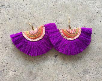 BOHO Chic bolso Swag color gitana Tribal estilo por midgetgems
