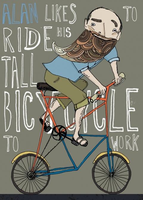 Man. Beard. Bike.