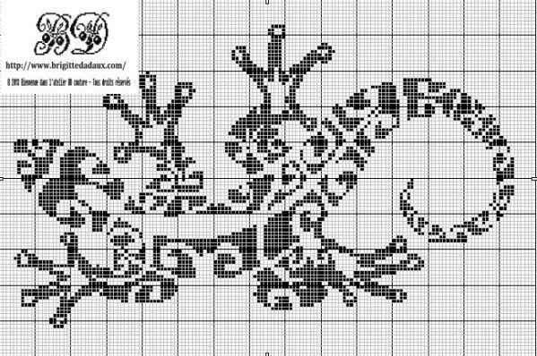 animaux - animals - salamandre - point de croix - cross stitch - Blog : http://broderiemimie44.canalblog.com/
