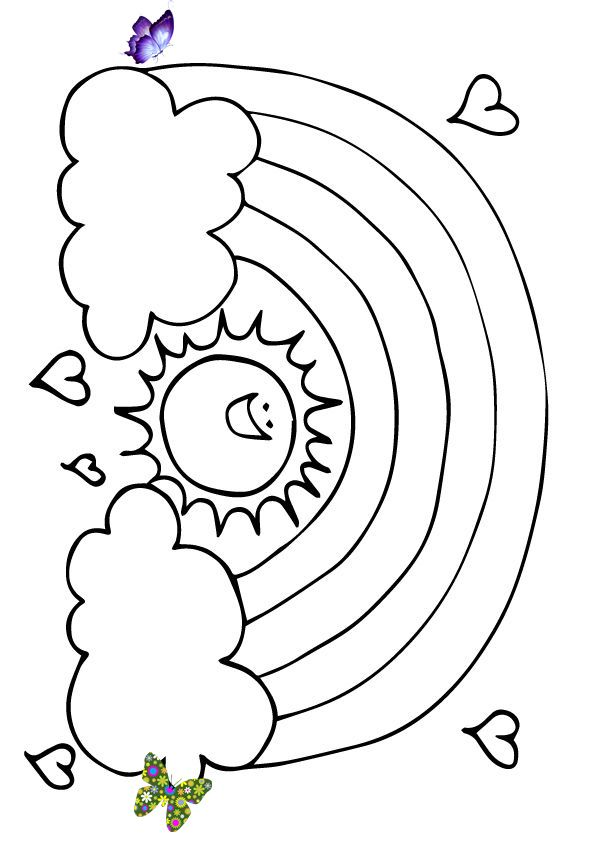A Zig Zag Rainbow Road Coloring Page Print Coloring Image Momjunction Br I 2020