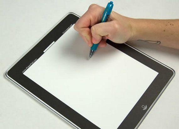 "The Poor Man's iPad...  Literally a ""pad"" for $5.00: Poor Ipad, Gadgets, Analogue Ipad, Ipaper Pad, Ipad Pad, I Paper Pad, Fun Gifts"
