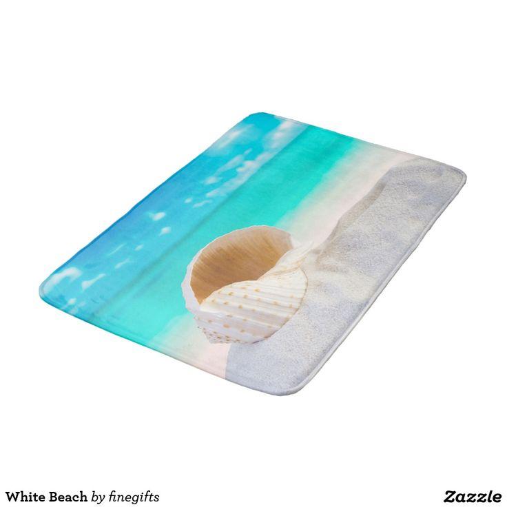 White #Beach #BathMats @Zazzle