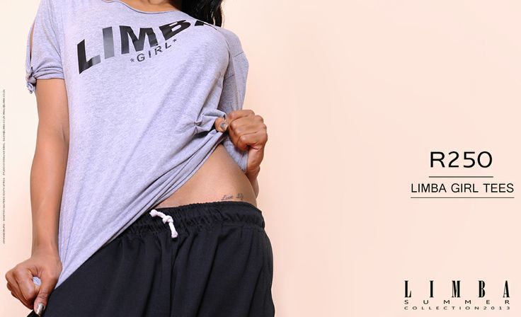 South African designer, Mbali for Limba. Limba Girl tees. Available in South Africa R250
