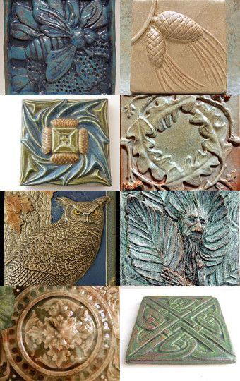 Beautiful Art Tiles --Pinned with TreasuryPin.com