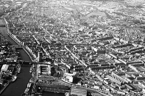 Ariel view of Dublin's Inner City.