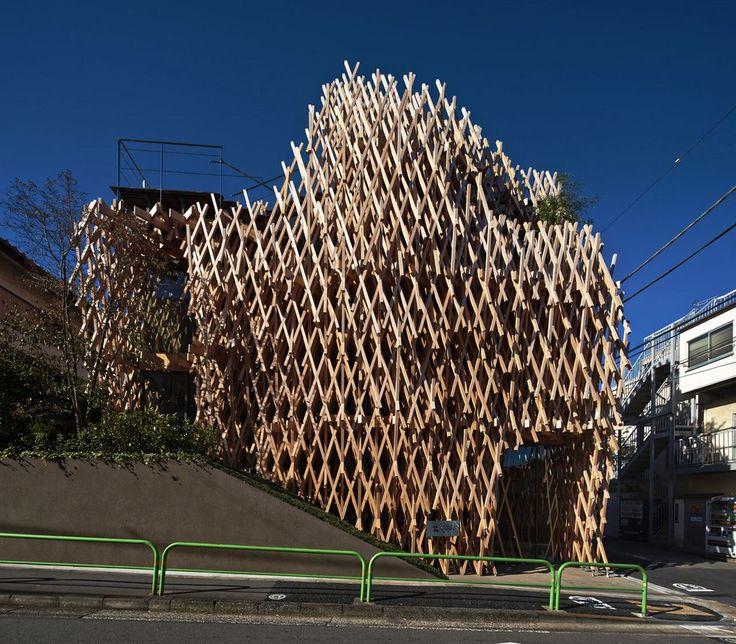 The Hellish Art of Japanese Interlocking Wooden Architecture Revived at SunnyHills Minami-Aoyama