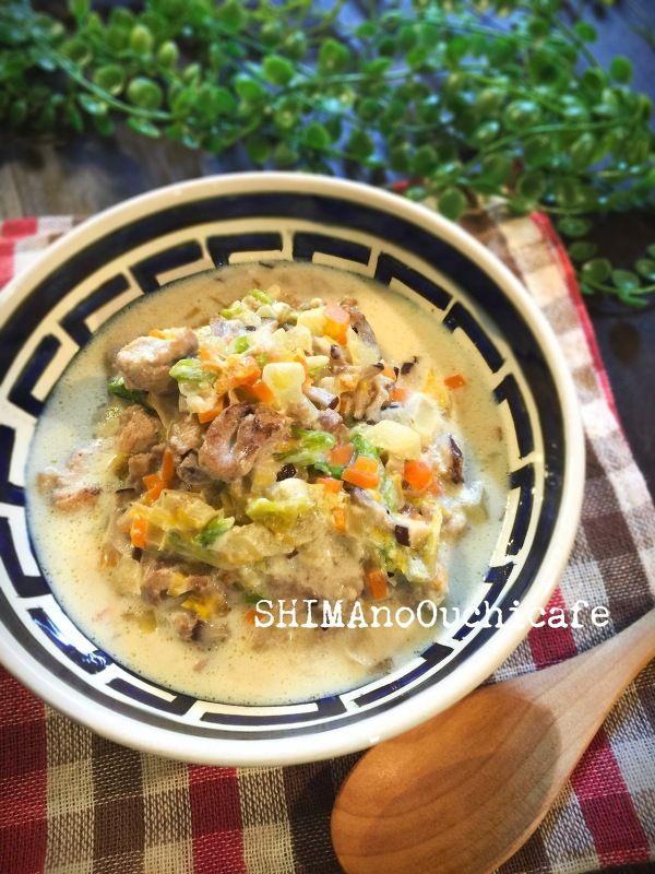 ワンコとごはん!白菜と豚肉の豆乳スープ仕立て by SHIMA   レシピ ...