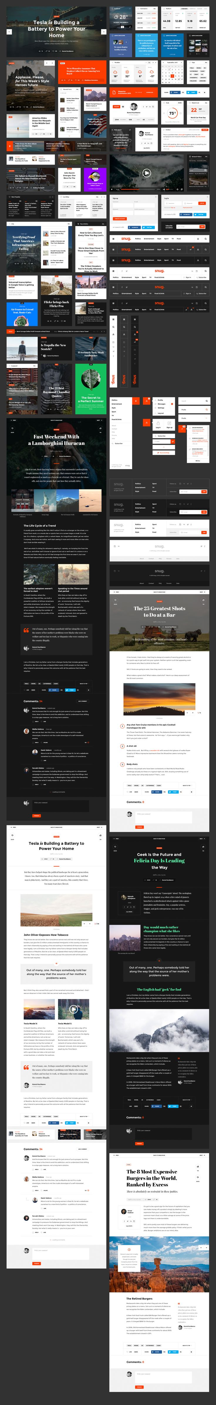 Snug. UI Kit is a clean and convenient, versatile assistant for creating a…