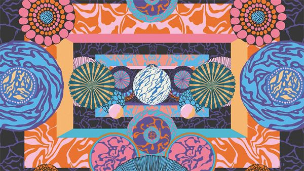 Down the Rabbit Hole Festival psychedelic animated title sequence