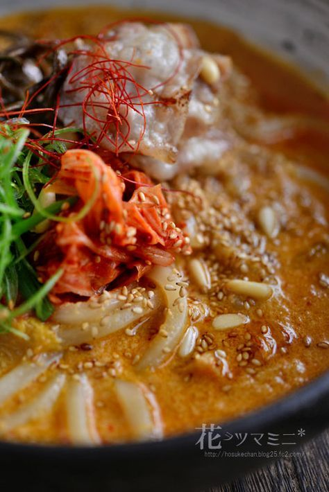 胡麻だれキムチうどん - Kimuchi and sesameCream Noodle