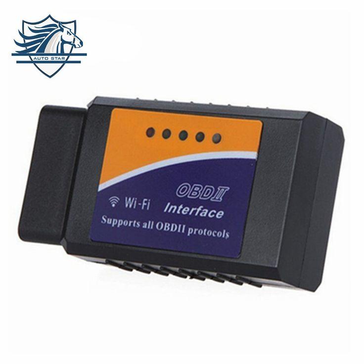 Hot promosi v1.5 elm327 wifi ios obdii obd2 mobil antarmuka diagnostik scanner untuk iphone ipad ipod gratis pengiriman